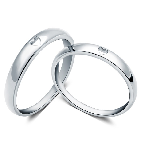 847a0d54ed Heart to Heart 925 Sterling Silver Couple Rings - Joancee Jewelry