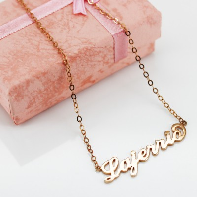 Rose Gold S925 Silver Personalized Name Necklace