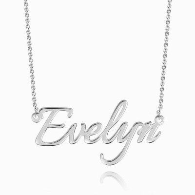 Dainty Personalized S925 Silver Name Necklace