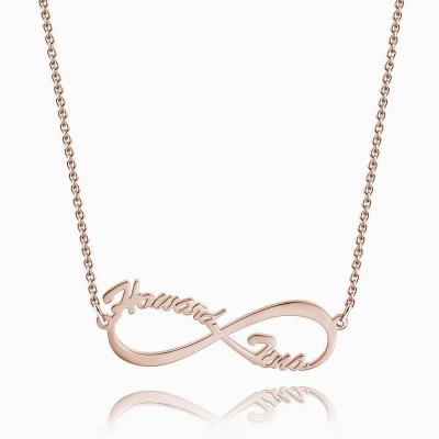 Rose Gold Infinity S925 Silver Personalized Name Necklace