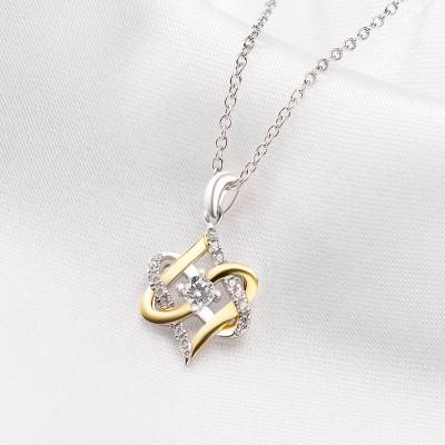 """""""Cross My Heart"""" Sterling Silver Heart Necklace for Women"""