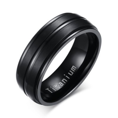 Titanium Cool Black Men's Ring