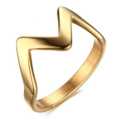 Titanium Fabulous Gold Promise Rings For Her