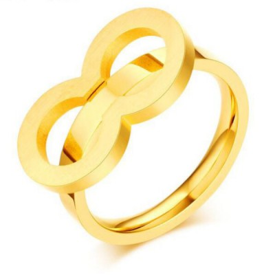 Titanium Simple Gold Promise Rings For Her