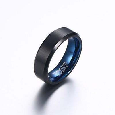 Black Tungsten & Blue Inlay Men's Band