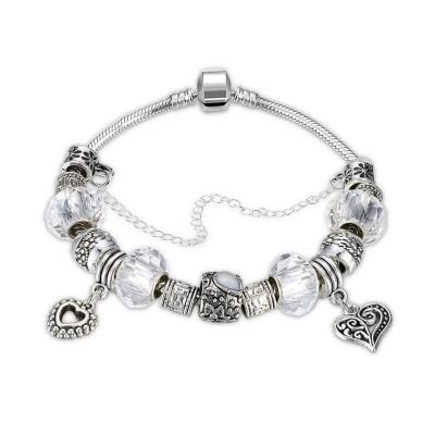 White/Emerald/Pink/Aquamarine/Topaz/Light Blue Silver Titanium Bracelets