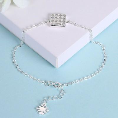 Rose Gold/Silver/Gold Cube Pendant S925 Silver Bracelets
