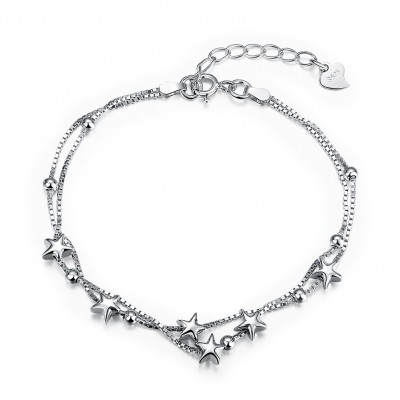 Lovely Stars Pendant S925 Silver Bracelets