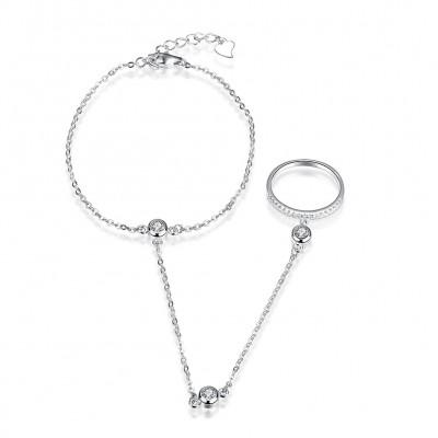 Unique Gorgeous S925 Silver Ring Bracelets