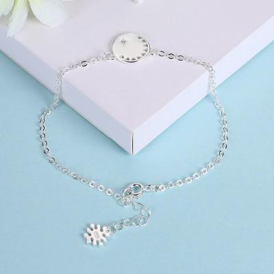 Rose Gold/Silver/Gold Flower Pendant S925 Silver Unique Bracelets