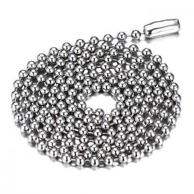 Silver Titanium Steel 2.4mm Chains