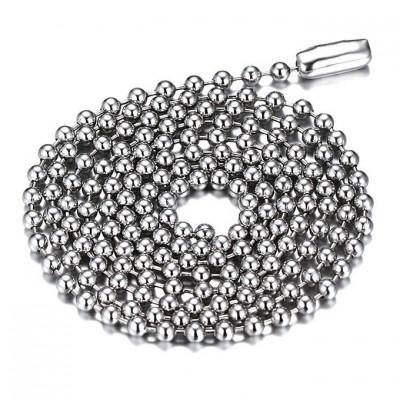 Silver Titanium Steel 2.4mm Chains