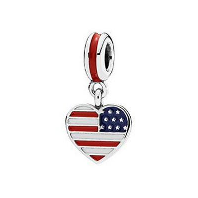 American Flag Charm Sterling Silver