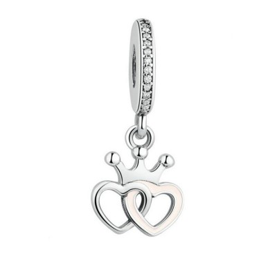 Heart to Heart Charm Sterling Silver