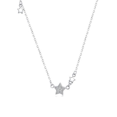 Cute 925 Sterling Silver Star Necklace