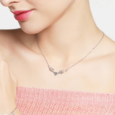 Lovely Antler S925 Silver Necklace