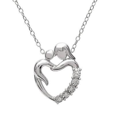 Mother Hug Sterling Silver Necklace