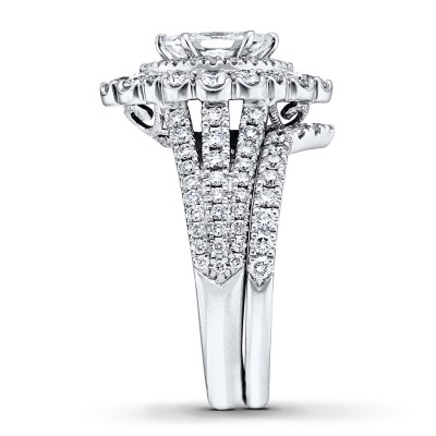 Marquise Cut White Sapphire 925 Sterling Silver Double Halo Bridal Sets