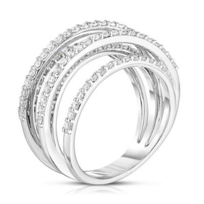 Unique Round Cut White Sapphire Sterling Silver Multi Wedding Band