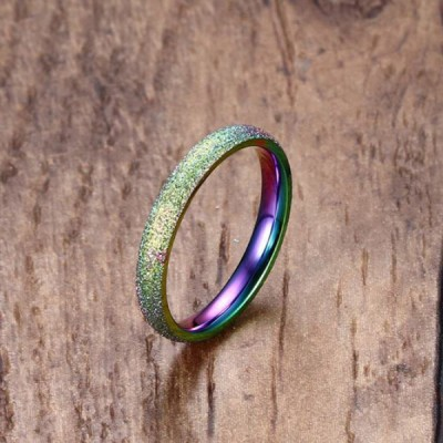 Titanium Colorful Promise Rings For Her
