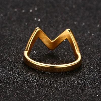Titanium Fabulous Gold Promise Rings For Her