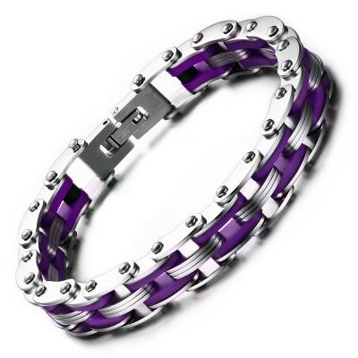 Silver and Regency Chain Design 925 Sterling Silver Bracelet