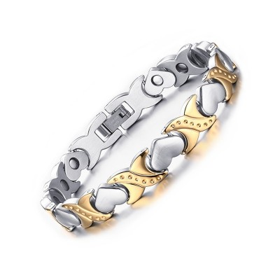 Silver and Gold 925 Sterling Silver Bracelet