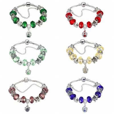 Red/Pink/Emerald/Cyan/Topaz/Blue/Burgundy Silver Titanium Bracelets