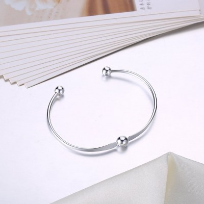 Simple and Elegant Silver Titanium Bangles