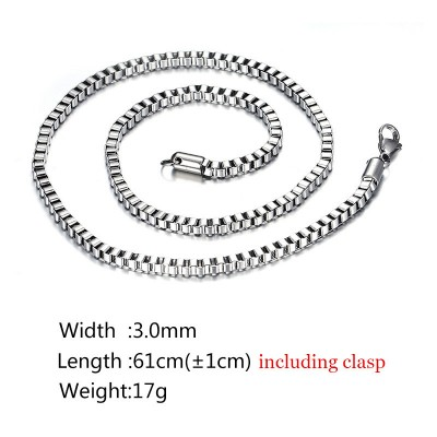 Silver Titanium Steel Chains