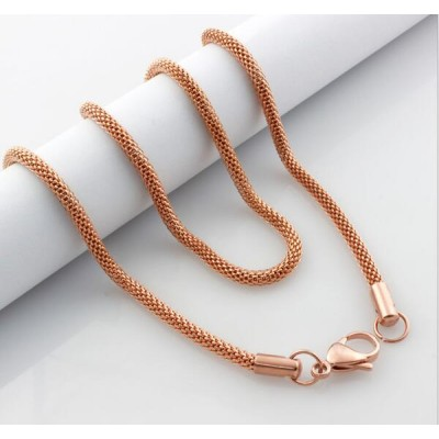 Rose Gold Titanium Steel 4mm Chains