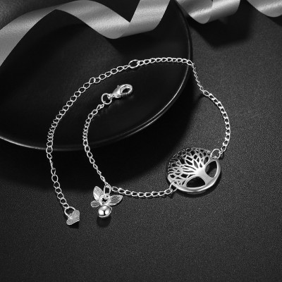 Elegant Silver Titanium Hollow Out Anklets
