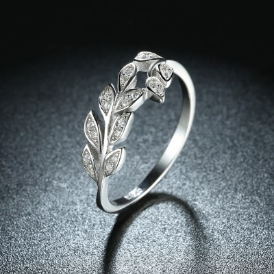 Branch Round Cut White Sapphire S925 Silver Bands