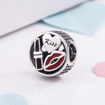 Kiss Charm Sterling Silver