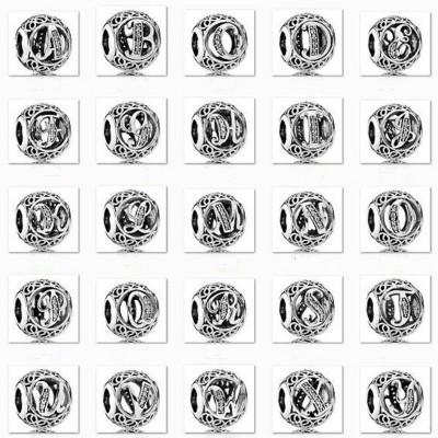 Alphabet Charm Sterling Silver