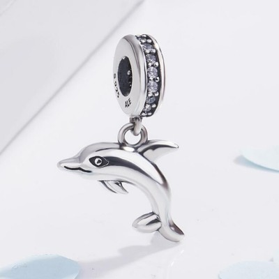 Dauphin Charm Sterling Silver