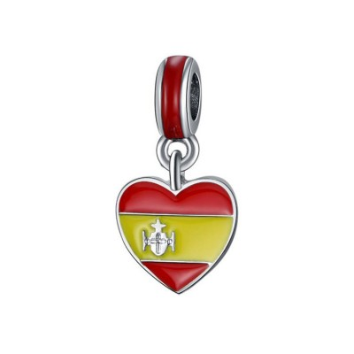 Spanish Flag Charm Sterling Silver