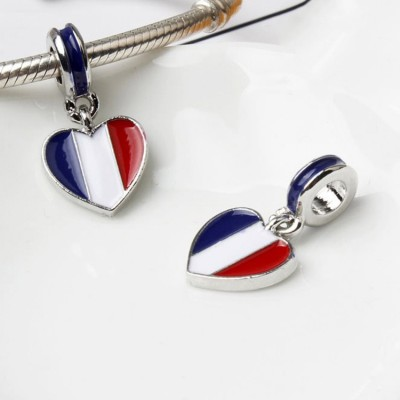 French Flag Charm Sterling Silver