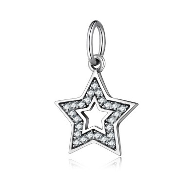 Two Stars Charm Sterling Silver